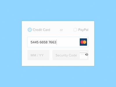 Checkout checkout credit card form flat ui