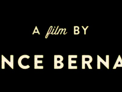 A Film By type film credits typography