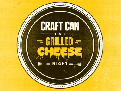 Craft Beer & Grilled Cheese Night poster bar