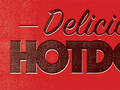 Delicious poster illustration typography