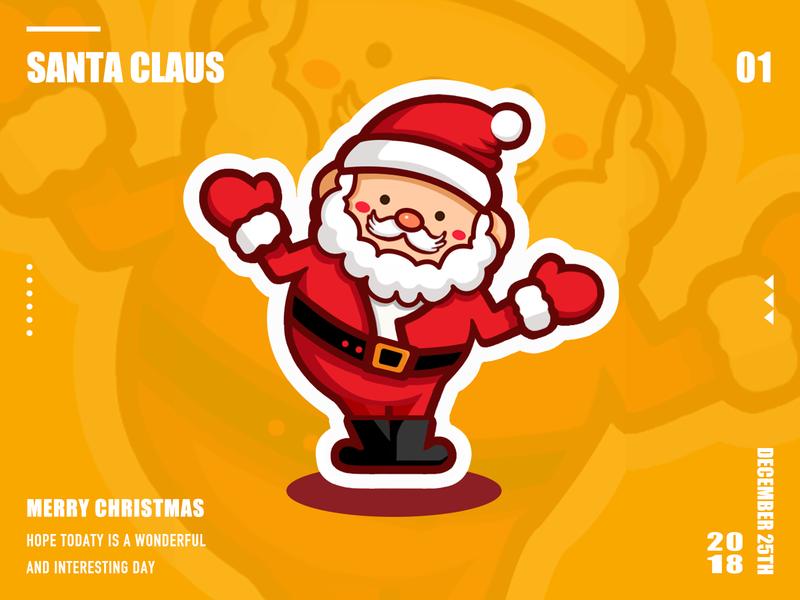 Santa Claus santa claus design illustration ui