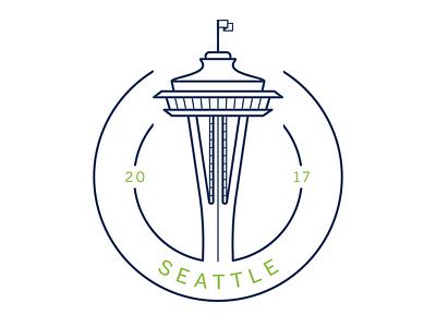 Seattle City Icon seattle space needle city icon illustrator vector icon
