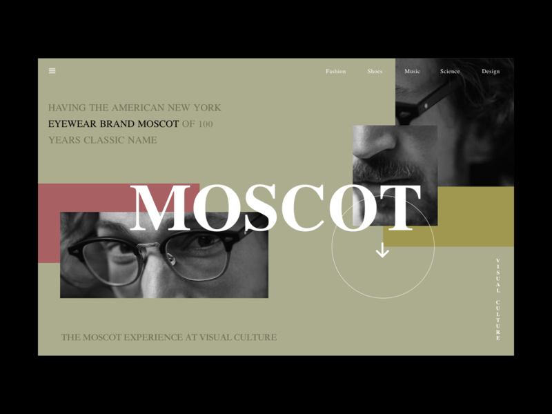 Day 22 Moscot animation ae website web ux ui design