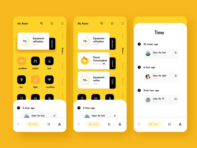 Day 47 smart home app sketch ux ui design