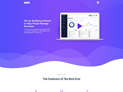 Software Landing Page theme template psd software page landing