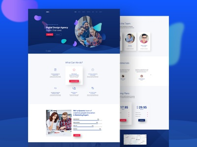Creative Design Agency theme template psd software page landing