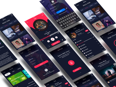 Love Music App For Music LOVER. record voice ux ui dane singing music apple app song ios