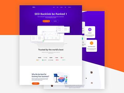 SEO Landing Page engine search seo logo design template theme website page landing