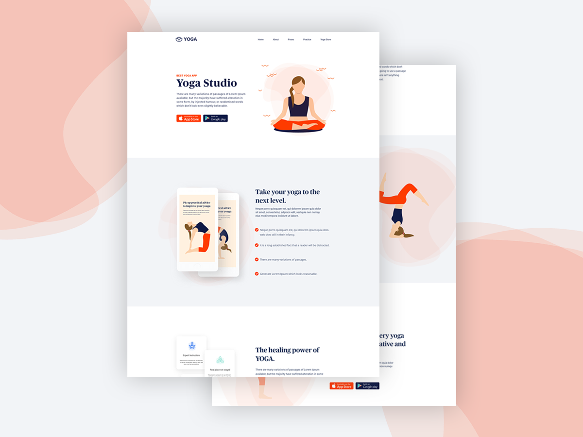 Yoga Studio Landing Page By Mohsin Cc On Dribbble