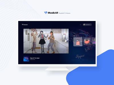 Mixed Reality | Sing with Musicians TV music dance augmentedreality minimalist dark ui tv uidesign ios app uiux design minimal