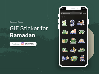 GIF Stickers - Ramadhan Sticker Instagram Recap popular design popular shot eid mubarrak ramadhan gif sticker sticker instagram popular illustration ui app uidesign ios design minimal