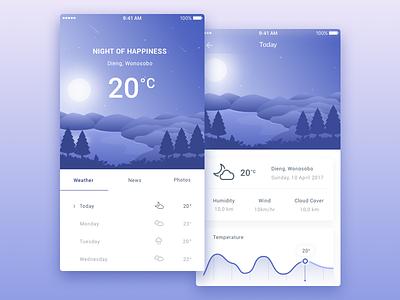 Weather App weather ui mountain weatherapp ios illustration design app