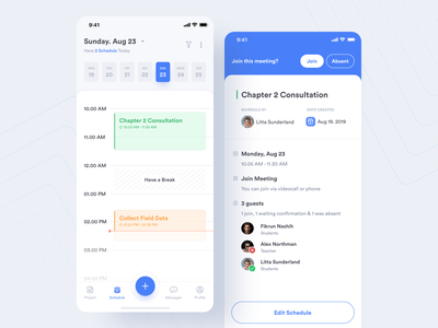 #Exploration | Planku - Schedule section schedule exploration product design blue cards ios mobile app appointments school app campus illustration uiux student uidesign dashboard academic design minimal