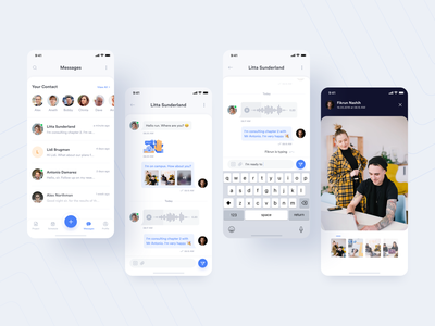 #Exploration | Planku - Messages section contacts chat messages activity product design campus blue appointments student illustration courses ios app uiux uidesign design academic minimal