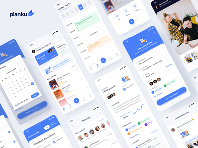 #Exploration | Planku App dashboard activity product design blue campus appointments student ios illustration academic app uiux uidesign design minimal