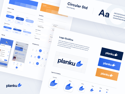 #Exploration | Style Guide Planku App ui activity product design campus blue appointments student ios dashboard app uiux uidesign academic design minimal