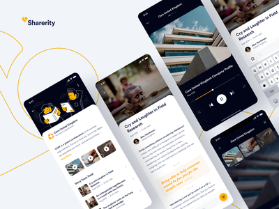 #Exploration | Sharerity - Detail Story from Field clean ui details player media story article app yellow donation charity illustration uidesign ios uiux design minimal