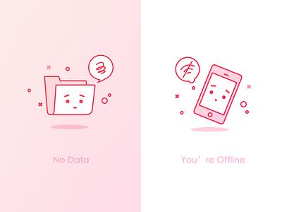 Error illustration error phone sorry offline data no
