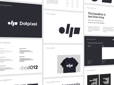 dotpixel-agency - Brand Guidelines design strategy visual logotype typeface stationery marekting system marketing agency branding design black art direction artistique identity card corporate agency card branding concept artwork dotpixel-agency brand guidelines