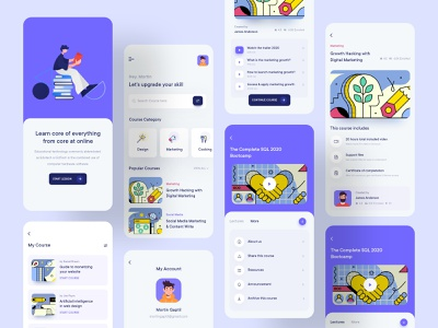 Online Learning Mobile Application Design design consultancy online marketing marketplace online shopping shoes store clean ui mobile ui reading ios app appdesign app design application mobile learning online