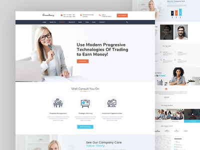 Consulting PSD Template insurance financial finance elegant creative corporate consulting consultant consultancy business templete business