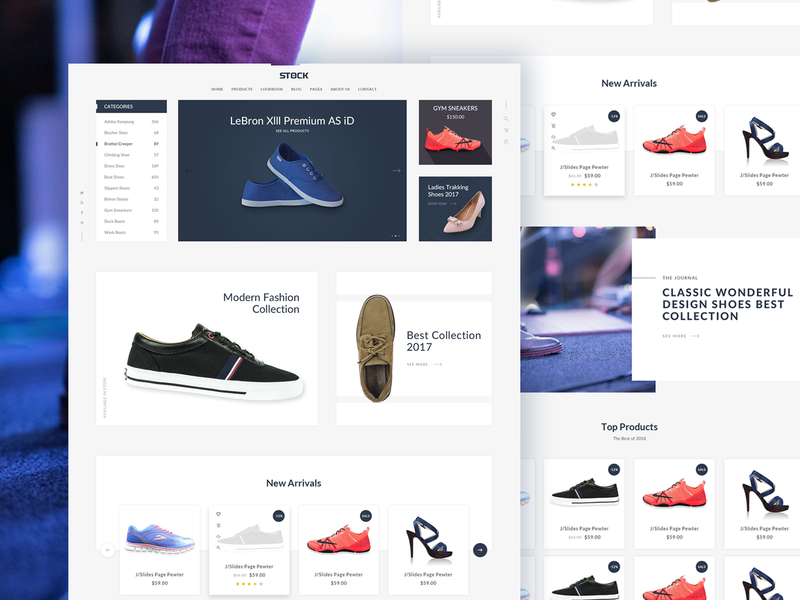 Stock – eCommerce PSD Template shopping shop shoes retail online multipurpose furniture fashion store electronic ecommerce accessories corporate consultancy consulting financial design illustration business auto car care
