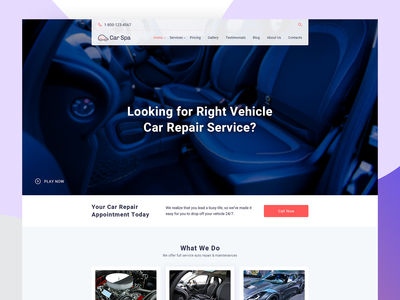 Car Repair Services landing page