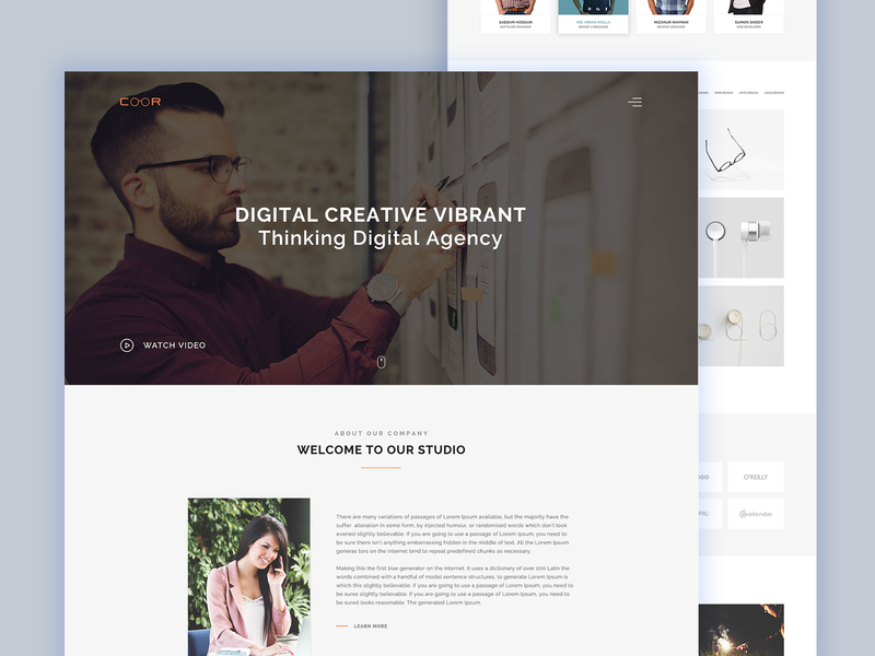 Coor – Creative One Page PSD Template. accessories illustration logo furniture auto car care financial business consultancy commercial corporate creative businesses psd template marketing minimal portfolio professional responsive services unique