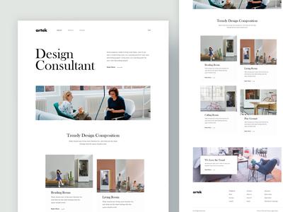 Design Consultant landing Page Idea Concept