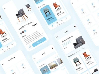 Furniture Mobile Apps Concept