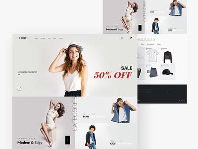Design e-commerce Concept landingpage product landing page products typography web sale product wocommerce ecommerce webstie