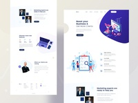 Business Consultant landing Page Idea Concept