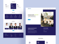 Business Consultant landing Page