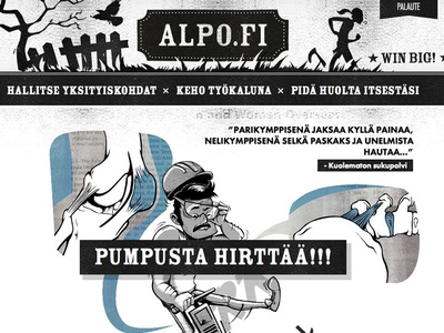 Grunge style responsive website for Alpo