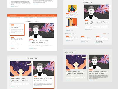 Intelligent: Style exploration homepage knowledge student clean lp interface landingpage orange minimal exploration animation design blog website ux ui