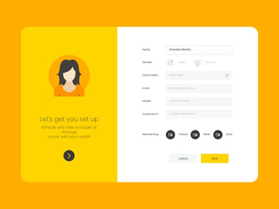 signup screen ux vector website design illustration minimal ui