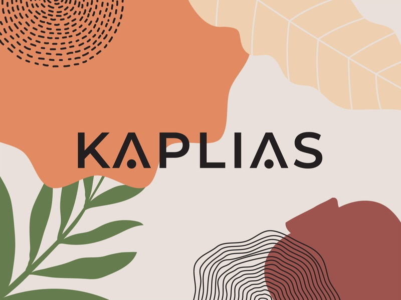 Kaplias - Logo & Pattern crafts wood textures pattern stickers hand drawn organic nature logo home decor botanical illustration botanical art prints abstract interior design nordic scandianavian minimalist logo