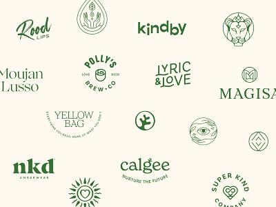 Logos of 2020 logos fashion wellness healthy vegan natural sustainable mark identity logotype lettering monogram branding symbol premium luxury geometric logo collection logofolio logo