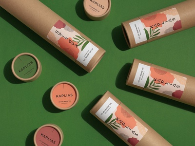 Kaplias - Identity & Packaging natural organic art prints branding home accesories furniture cardboard home decor interior design packaging design tube paper tubes recyclable sustainable
