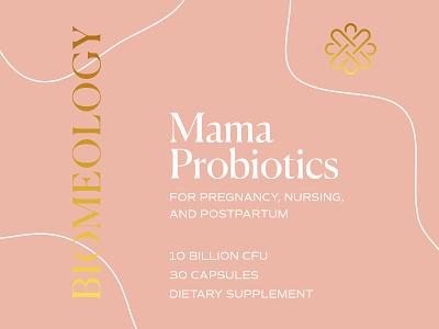 Biomeology Rebrand luxury branding gold foil sustainable recycle probiotics prenatal organic healthy packaging food supplements vitamins