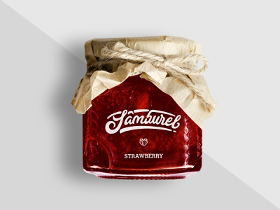 Packaging for Artizanal Jam jar packaging strawberry fruit icon logo packaging design food identity organic local artizanal branding jam