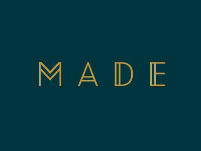 M A D E handmade artist artisan wood made handcrafted ethnic wordmark brand identity logo custom type