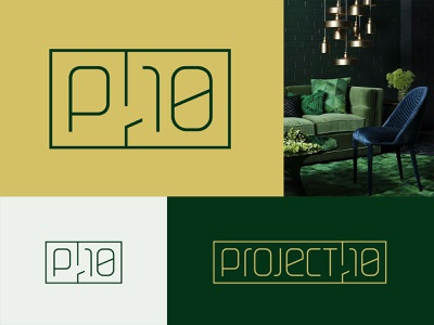 Project 10 interior architecture furniture luxury brand line art logo contemporary modernism geometric interior design minimalist logo