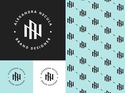 Personal Logo & Pattern letter mark monogram brand identity branding modernism minimalism emblem brand pattern an monogram personal logo