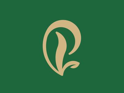 P + Leaves Logo