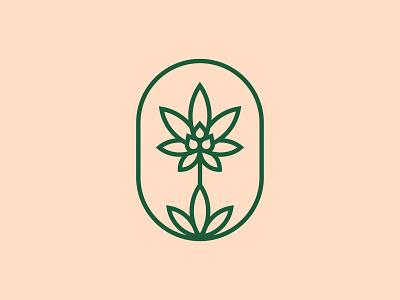 CBD Logomark plant based skincare natural holistic health marijuana cbd oil lozenges supplements cosmetics cannabis mark organic logo brand identity