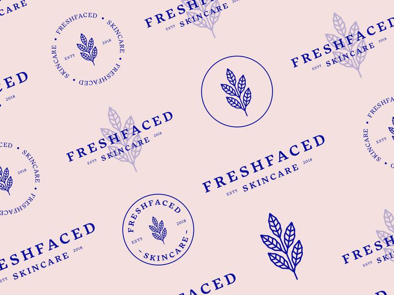 FreshFaced botanical mark logotype type beauty laurel leaf mandala brand identity cosmetics natural skincare holistic logo