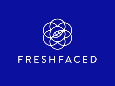 FreshFaced botanical mark type beauty mark natural brand identity cosmetics laurel leaf mandala skincare holistic logo