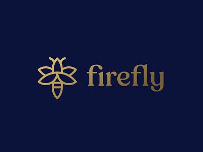 Firefly bee typography wordmark type bird icon minimalist geometric mark bird logo insect bird firefly