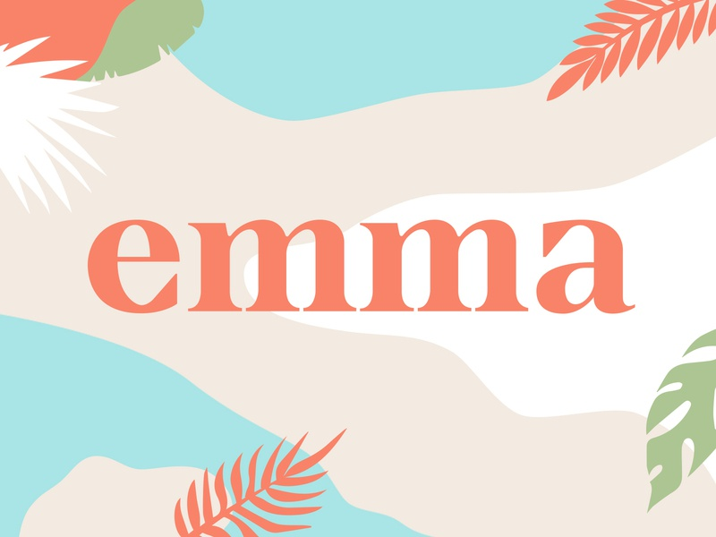 Emma biodegradable eco-friendly type logotype wordmark logo lifestyle high-end marketing strategy brand identity branding sustainable